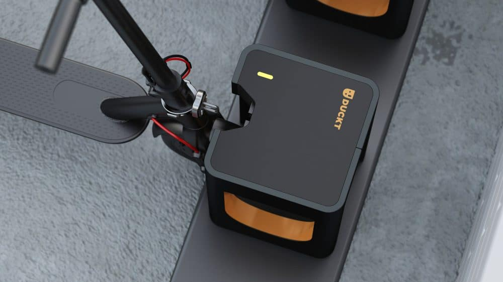 Paris pilots DUCKT universal scooter dock and charge points