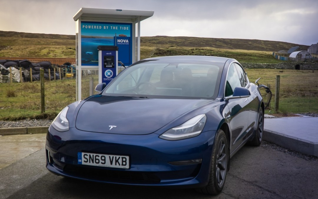 World's first tidal powered EV charger launched in Scotland