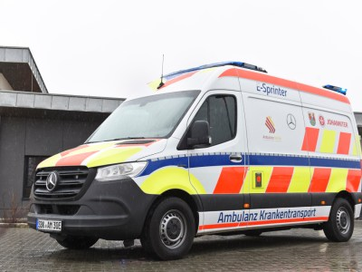 Mercedes develops first fully electric ambulance based on the eSprinter