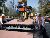 Mexico City plastic waste cycle path doubles up as flood storage facility