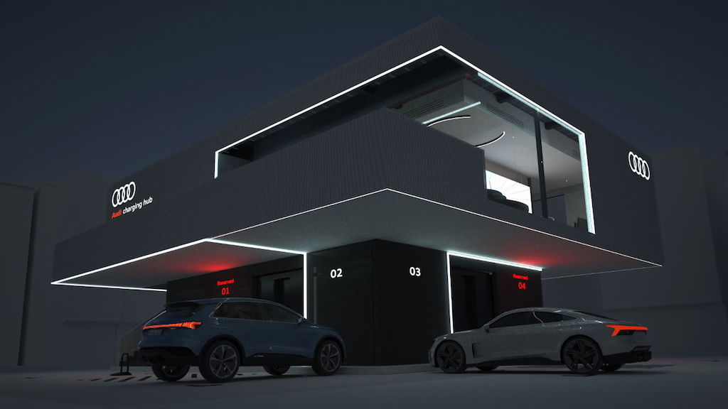 Audi charging hub concept largely independent of local grid capacity