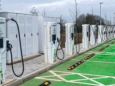 UK high power motorway charging site heralded as start of major transformation