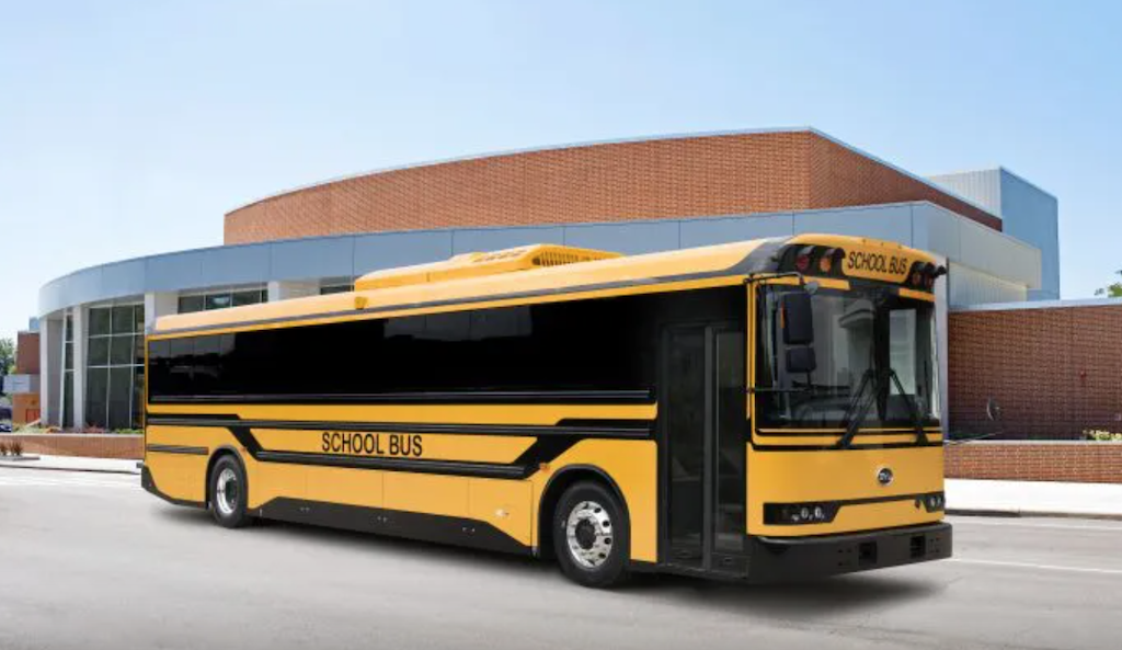 Chinese develop electric school bus with bi-directional charging