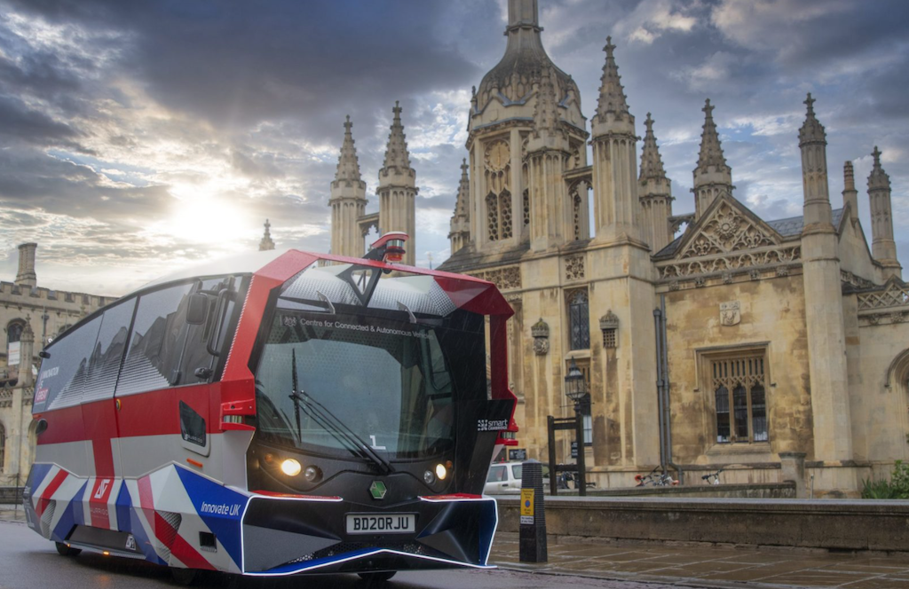 Aurrigo secures UK first as its Auto-Shuttle takes to the road in Cambridge