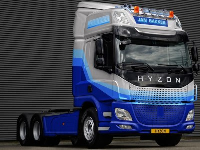 """US based Hyzon Motors, a leading global supplier of zero-emission hydrogen fuel cell powered commercial vehicles, is to supply 20, 50-ton hydrogen trucks to Dutch transport companies Jan Bakker and Millenaar & van Schaik. Hyzon expects to begin delivering vehicles in the fourth quarter of 2021, and to deliver the remaining trucks in 2022. The vehicles, HyMax 450 Tractors built on a class-8 DAF truck chassis, are expected to offer a range of up to 320 miles on a full charge with motor power up to 550 kW. Currently Hyzon is the only company in the world offering hydrogen trucks up to 50 ton gross vehicle weight, with its in-house high power fuel cell technology. Hyzon expects to manufacture the trucks in its European facility near Groningen in the Netherlands, where orders are being taken for deliveries of Hyzon-branded commercial vehicles worldwide. The trucks have been purchased by Duurzaam Transport, a subsidiary of Jan Bakker, and H2 Transport, a subsidiary of Millenaar & van Schaik. Jan Bakker and Millenaar & van Schaik both aim to convert their entire fleet to zero-emission vehicles. Jan Bakker is made up of 17 companies, operating in transport, energy, and agriculture. Millenaar & van Schaik is one of the largest asphalt transport companies in the Netherlands. Craig Knight, Hyzon CEO, said, """"We are excited to be engaging with transport and logistics organizations like Jan Bakker and Millenaar & van Schaik, to bring hydrogen fuel cell powered trucks to the Netherlands. These contracts further underline the interest in Hyzon's products in the European market, where we have seen strong uptake in zero-emission heavy vehicles."""""""