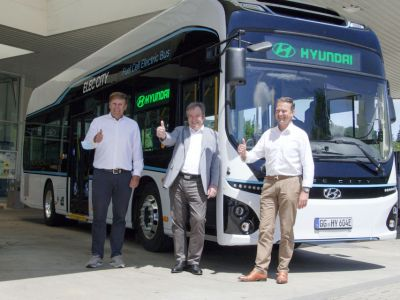 Hyundai hydrogen bus introduced to Germany to gain European experience