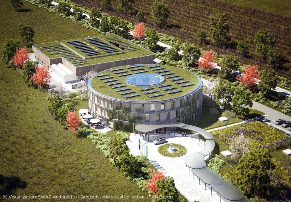 SAN Group HQ incorporates solar powered green hydrogen hub