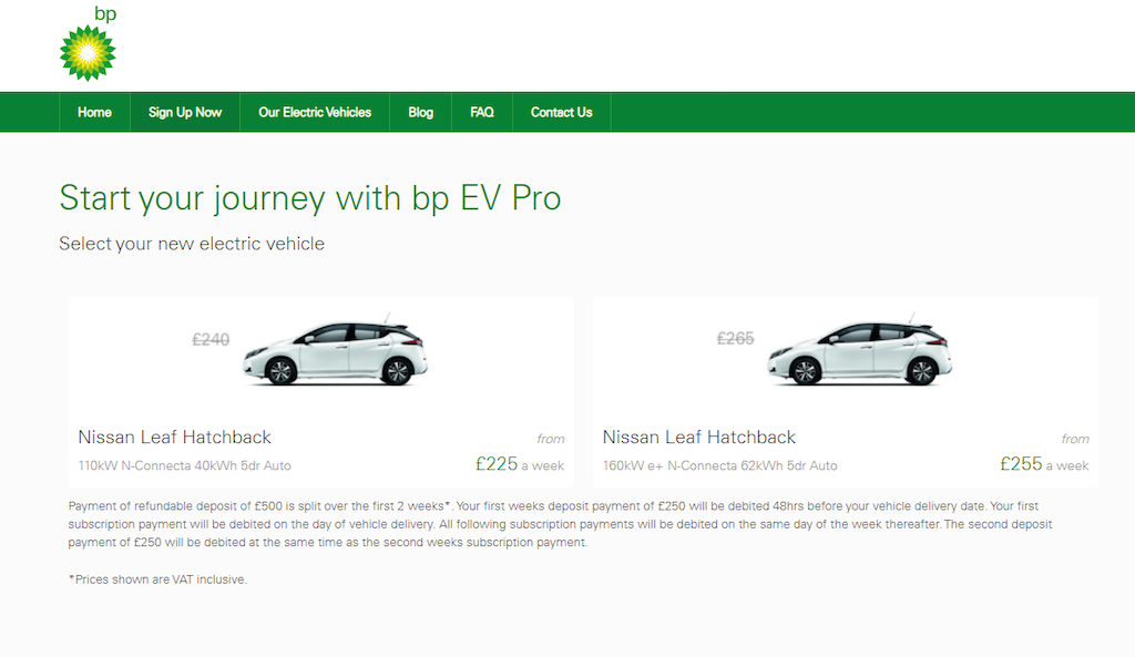 bp collaborates with Tomorrow's Journey to offer trial ride hail driver EV subscription service