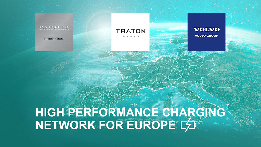 Leading heavy-duty truck manufacturers plan European high-performance charging network