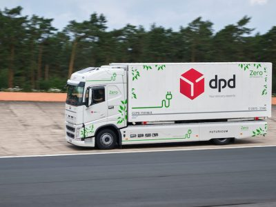 DPD-led team achieves 1,100km electric truck run on single charge