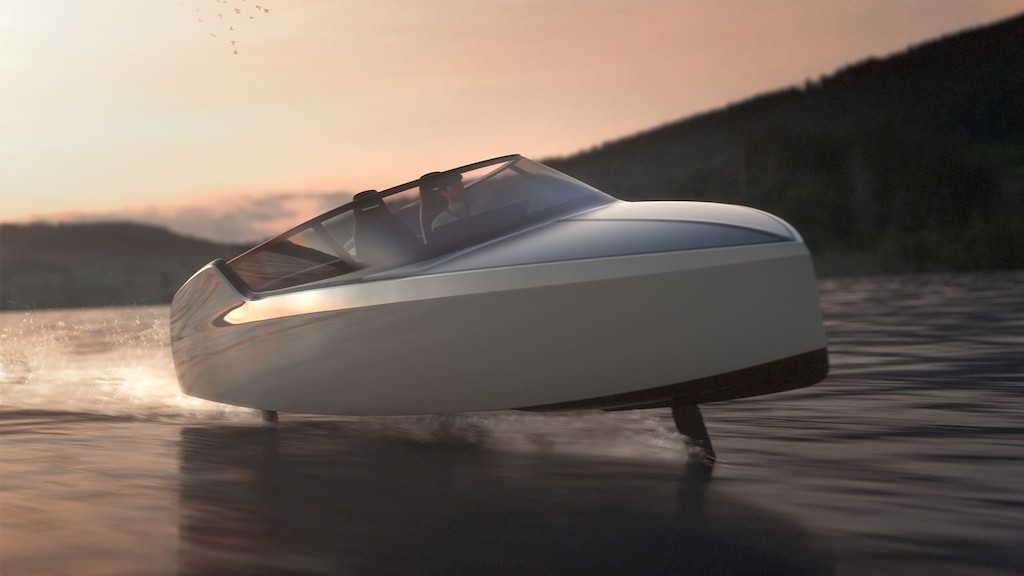 E-hydrofoil offers speed of a powerboat with the tranquillity of sailing