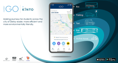 Kinto launches DerbyGo and becomes UK's largest MaaS scheme