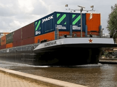 Dutch initiate inland waterway giant swappable electric battery pack network