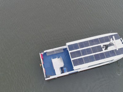 Baltic ferry powered by solar modules comes into service
